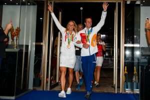 Rio de Janeiro, Brazil. August 14, 2016. CZECH HOUSE Celebration with Radek Stepanek and Lucie Hradecka at the 2016 Summer Olympic Games in Rio De Janeiro. © Petr Toman/World Sports Images